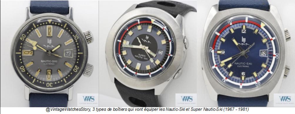 3 variantes de boîtiers de Lip Nautic-Ski, Source : VWS.fr