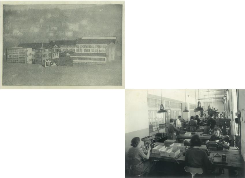 Usine montre Lip de la mouillère vers 1935 + atelier usine de la Mouillère vers 1940