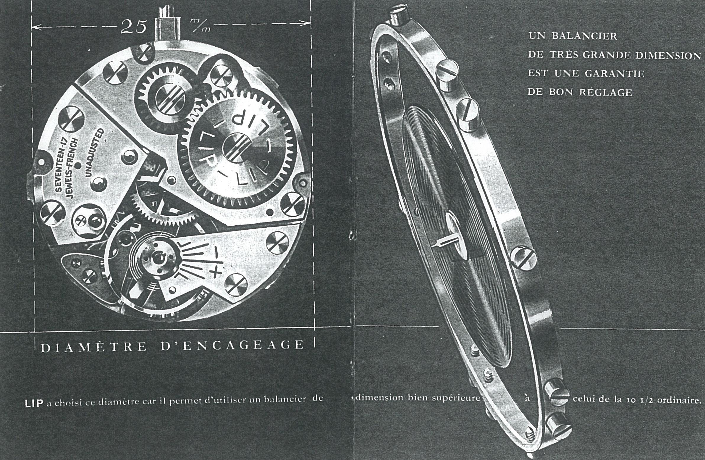 Fascicule mouvement Lip R25 de 1948 montre Besançon Fred Frédéric LIPMANN