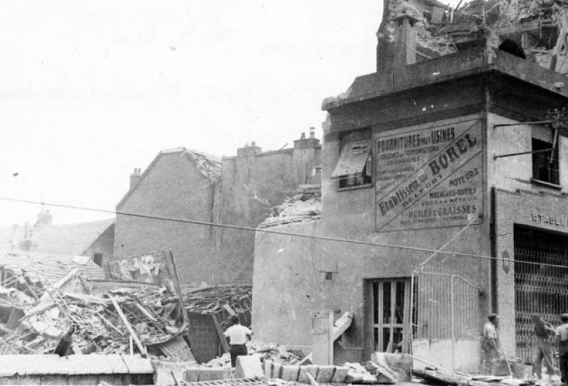 Rue de Belfort bombardement 15-16 Juillet 1943 Besançon