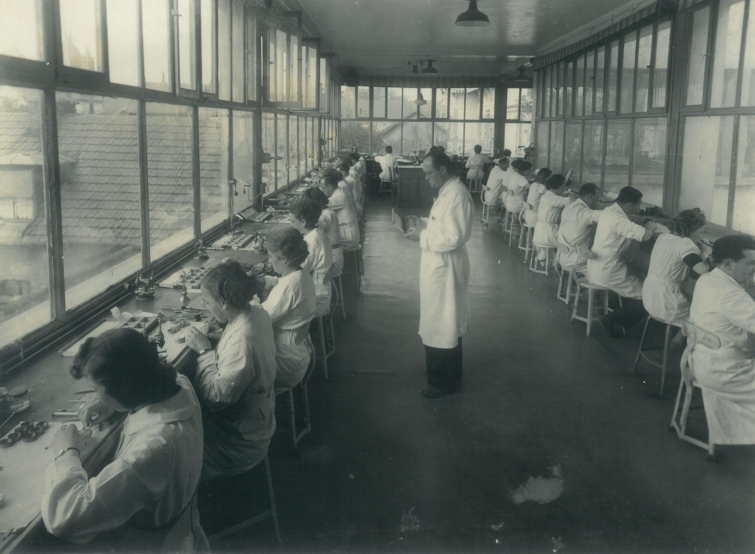Atelier usine de la Mouillère années 1940