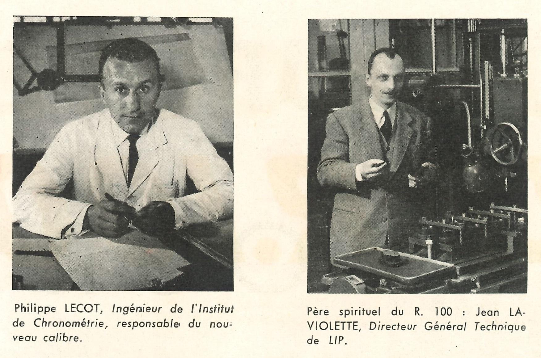 Bulletin Lip N° 25 Juillet 1958 Jean Georges LAVIOLETTE Philippe LECOT technique ingénieur chronométrie