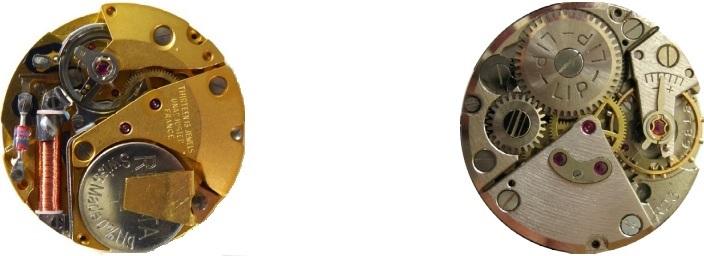 Comparaison Lip Electronic R148 184 mouvement Lip R23 mécanique @SHL