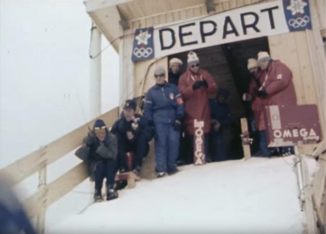 Départ KILLY du Slalom Géant Jeux Olympiques de Grenoble 1968 chronométrage Lip @SHL