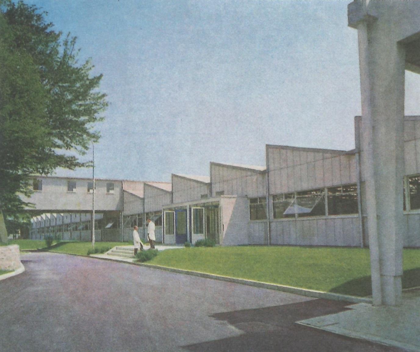 Extérieur de l'usine montre Lip de Palente 1962 revue Usine d' Aujourd'hui