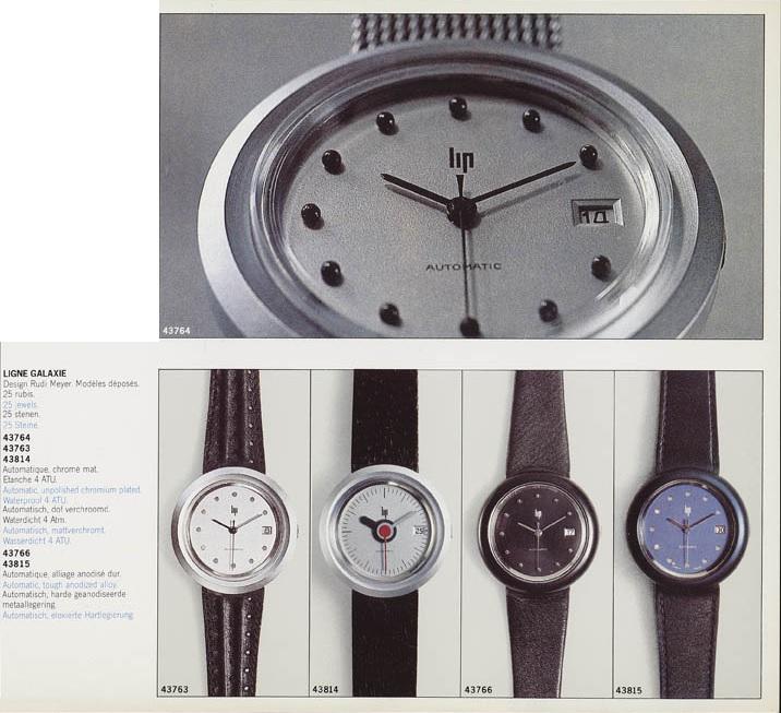 Lip Galaxie ronde catalogue Design 1975 Lip automatique
