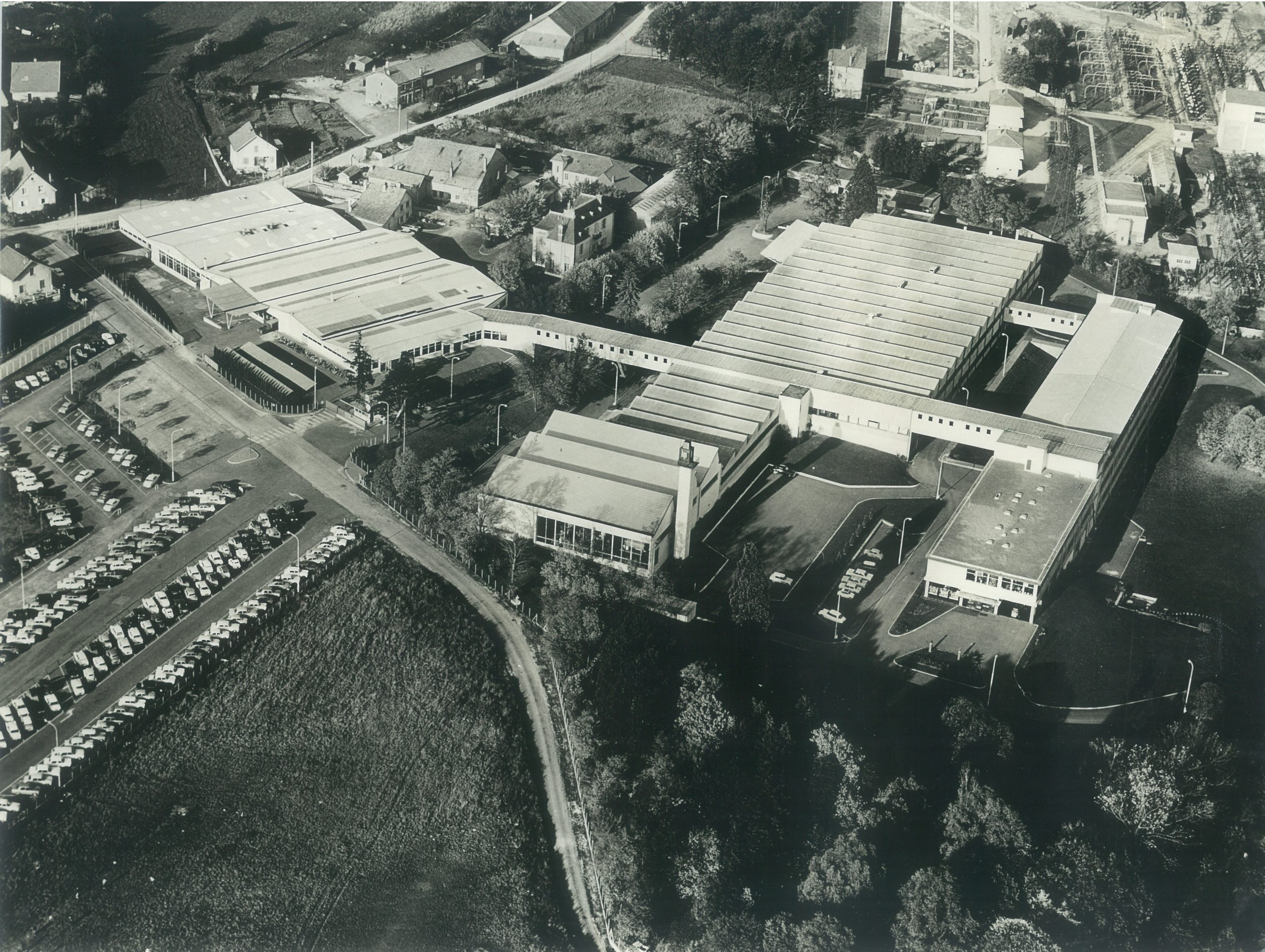 Photographie aérienne usine Lip III palente en 1967