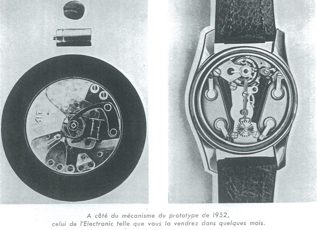 Mouvement prototype R27 1954