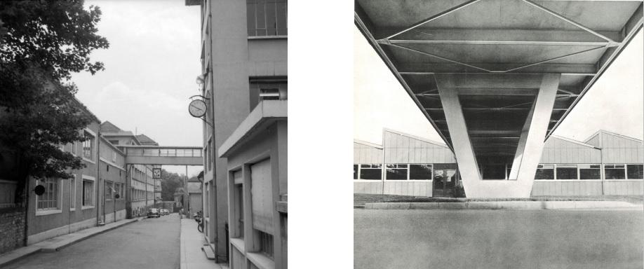 Passerelles usine Mouillère et Palente