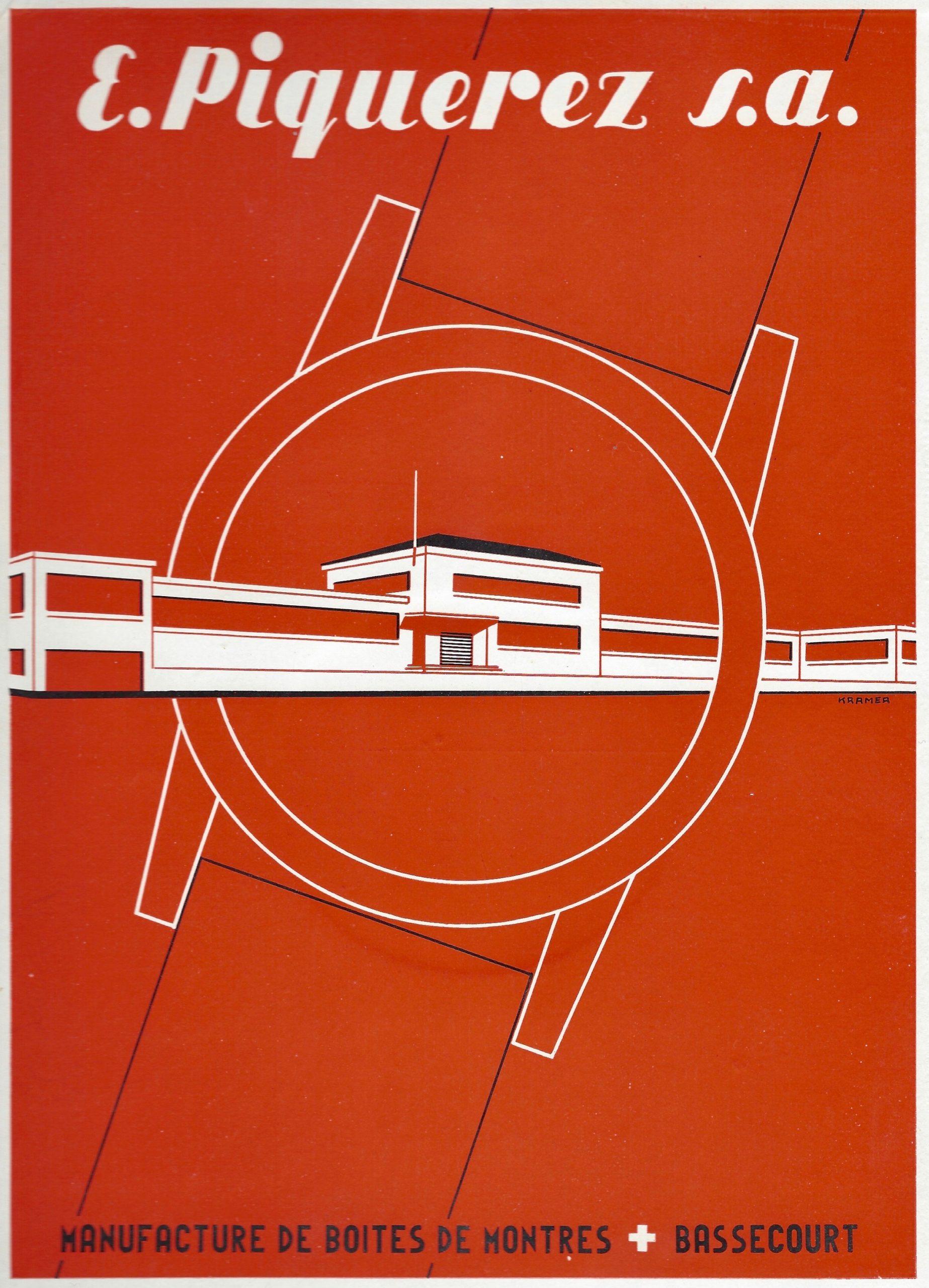 Publicité Ervin Piquerez SA EPSA fabrique de boîtier 1964