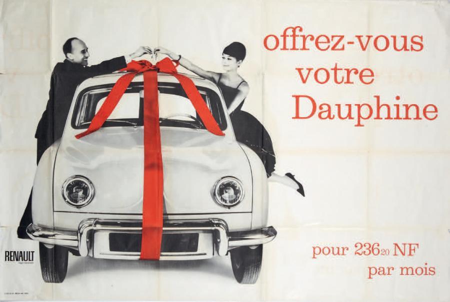 Publicité voiture automobile Renault Dauphine Régie 1959