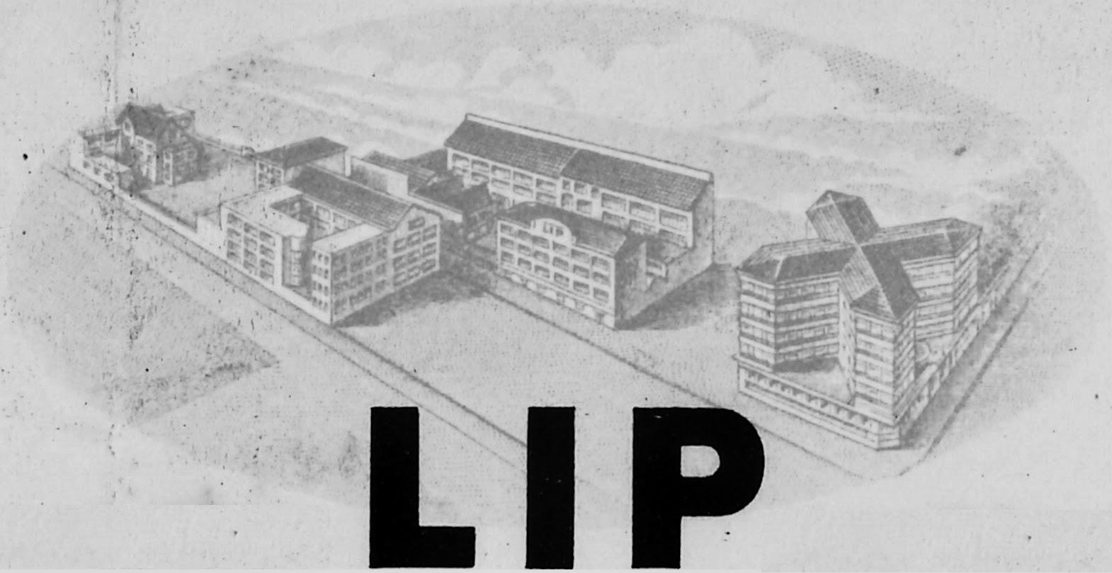 Usine Lip de la Mouillère en 1953 et immeuble du SIDHOR