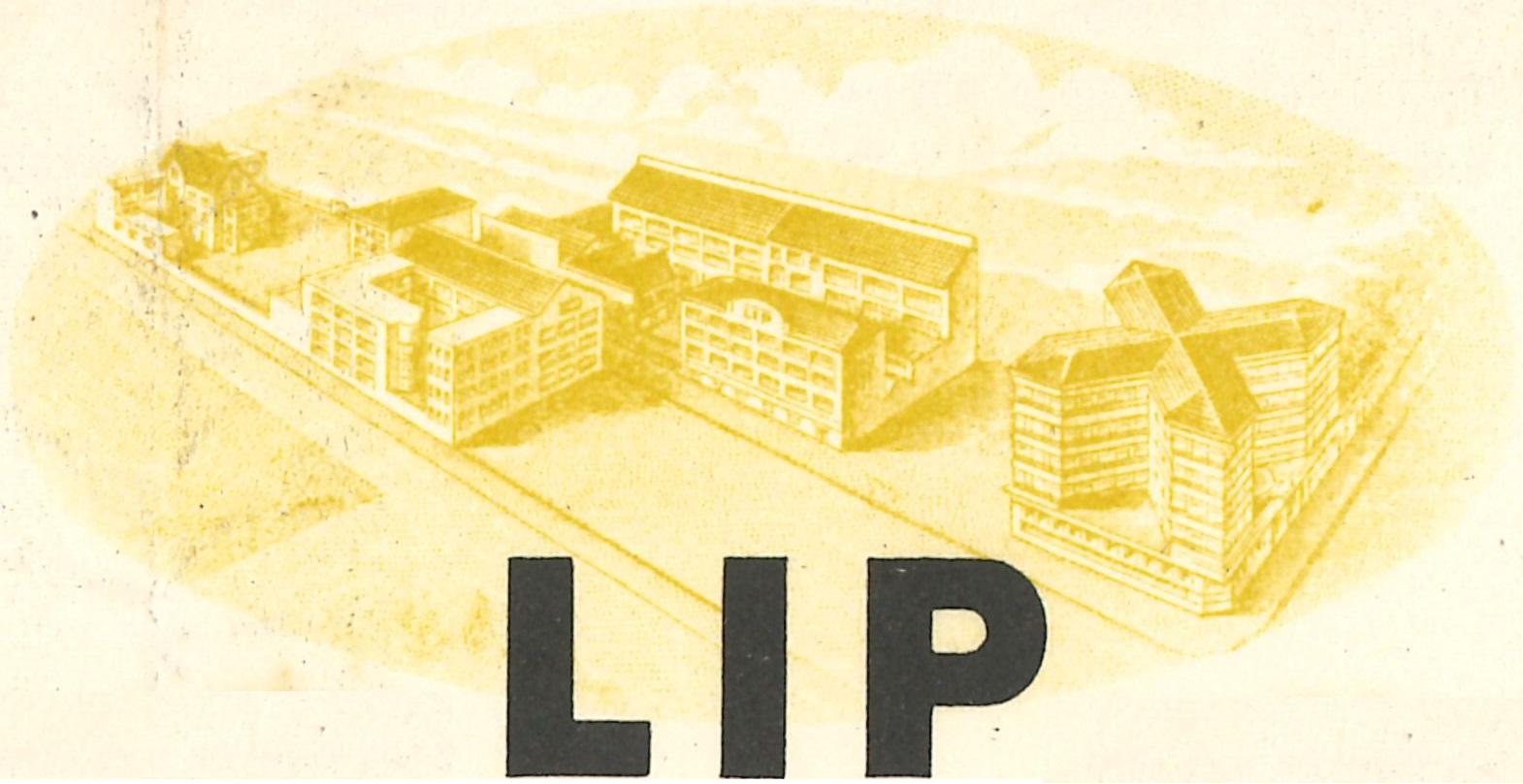 Usine montre Lip de la Mouillère rue des chalets en 1953 + immeuble du SIDHOR en tête facture vidée des autres habitations