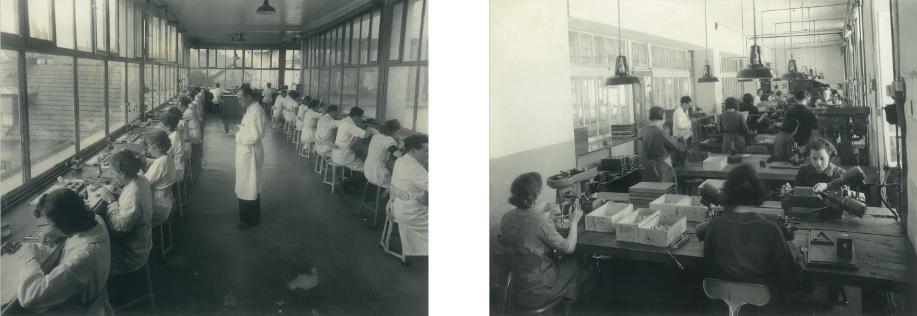 Vues sur les Ateliers de l'usine Lip de la Mouillère photographies du Services Photographiques Interne Lip années 1935 - 1940